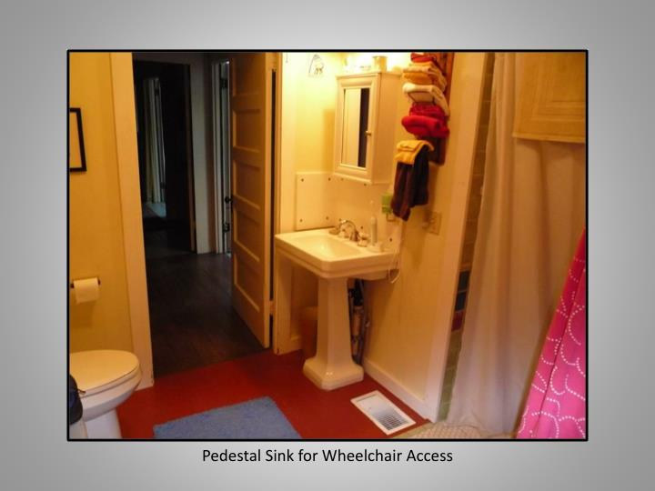 Pedestal Sink for Wheelchair Access
