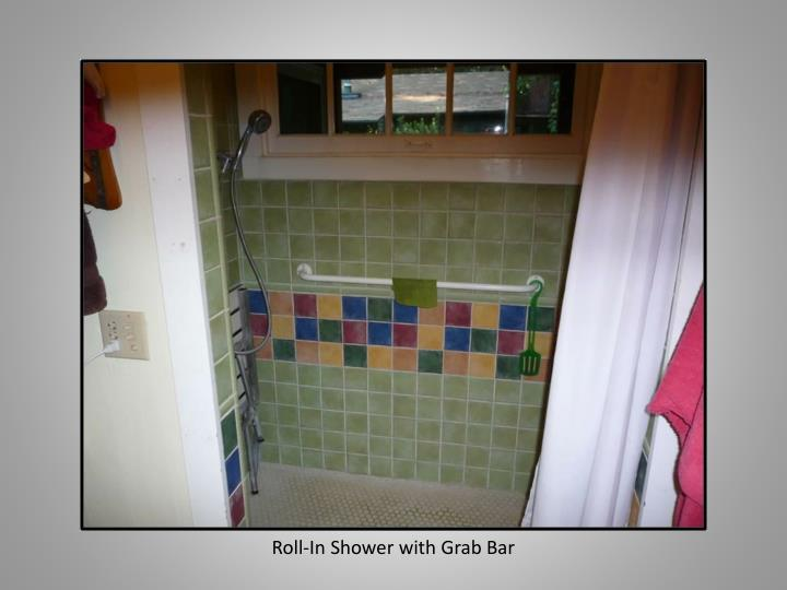 Roll-In Shower with Grab Bar