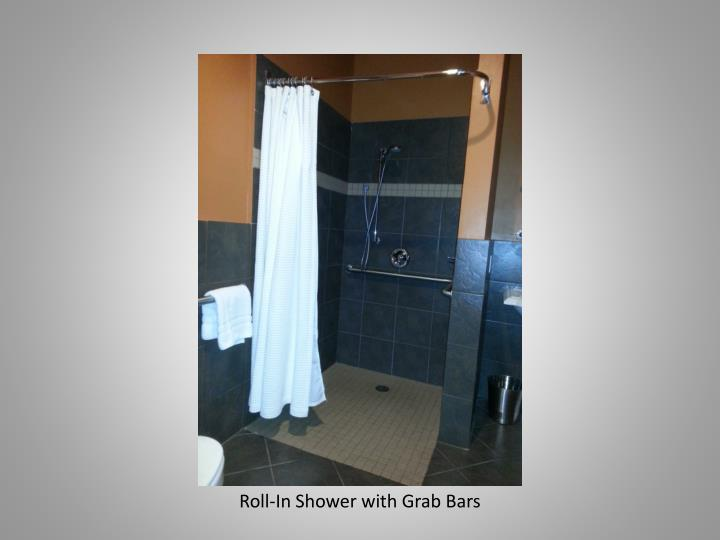 Roll-In Shower with Grab Bars
