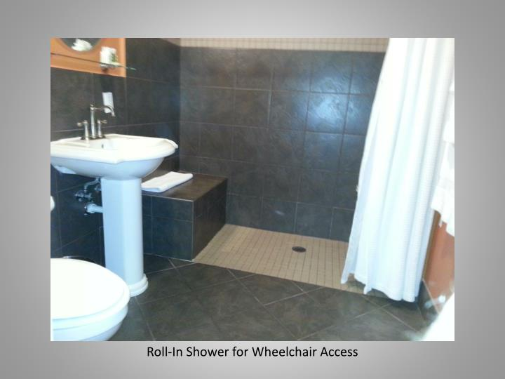 Roll-In Shower for Wheelchair Access