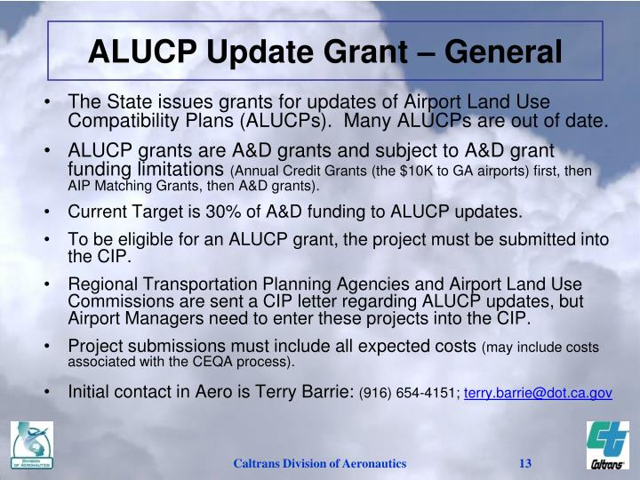 ALUCP Update Grant – General