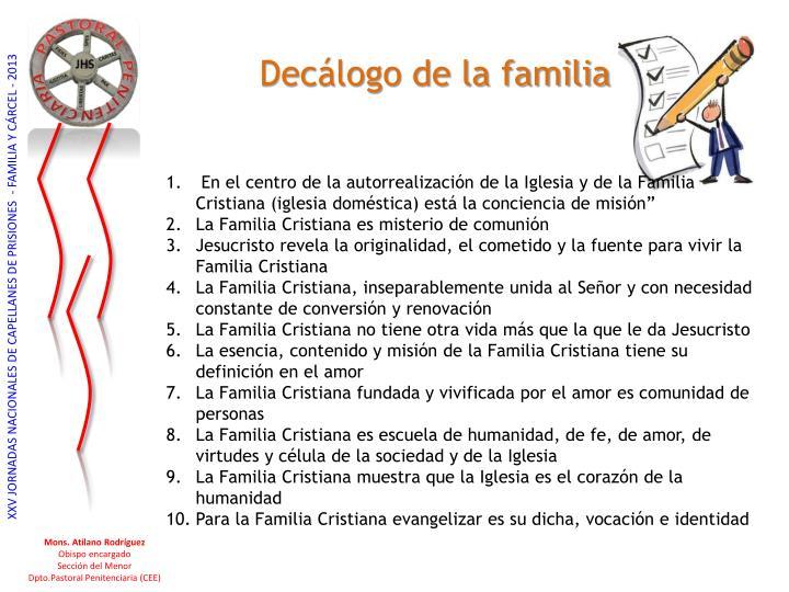 Decálogo de la familia