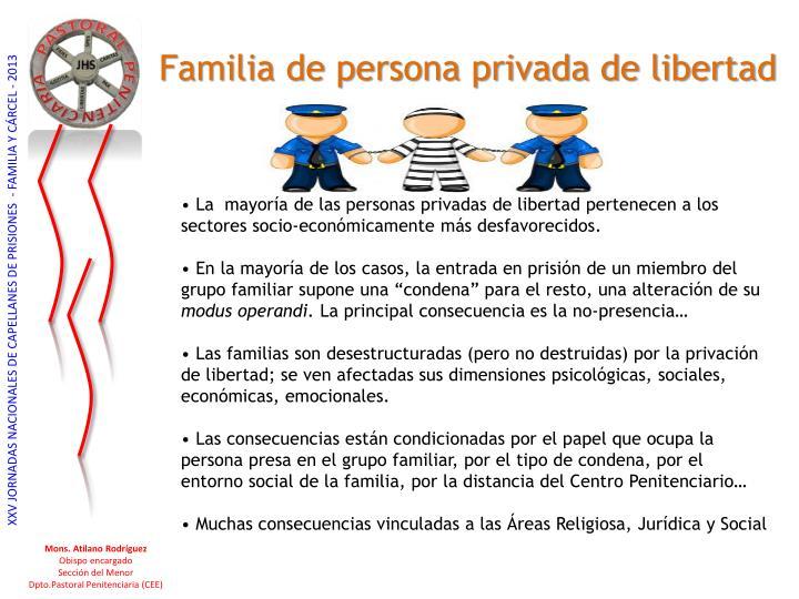 Familia de persona privada de libertad