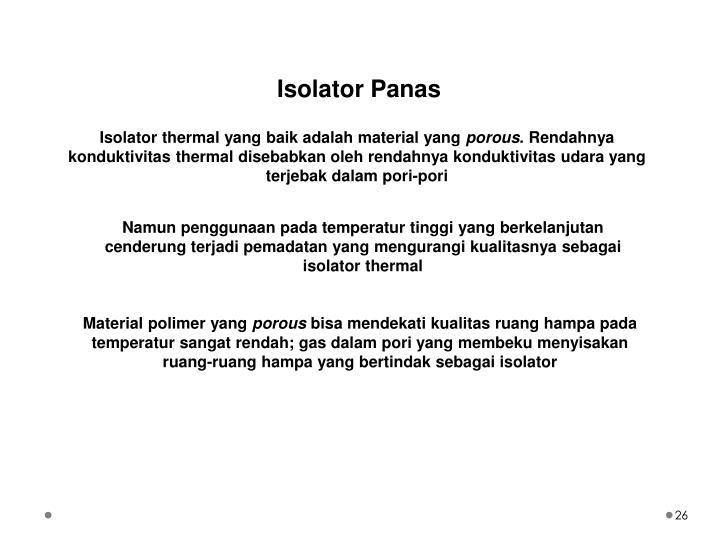 Isolator Panas