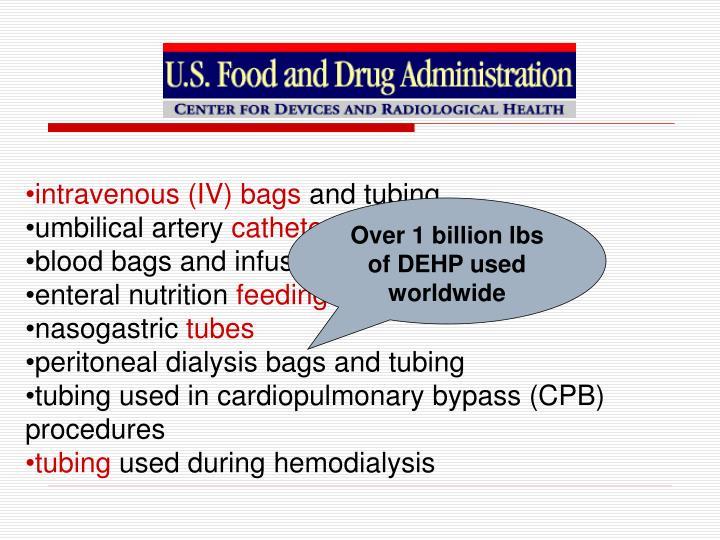 intravenous (IV) bags