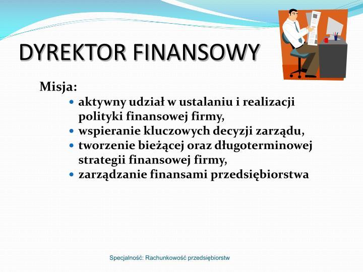 DYREKTOR FINANSOWY
