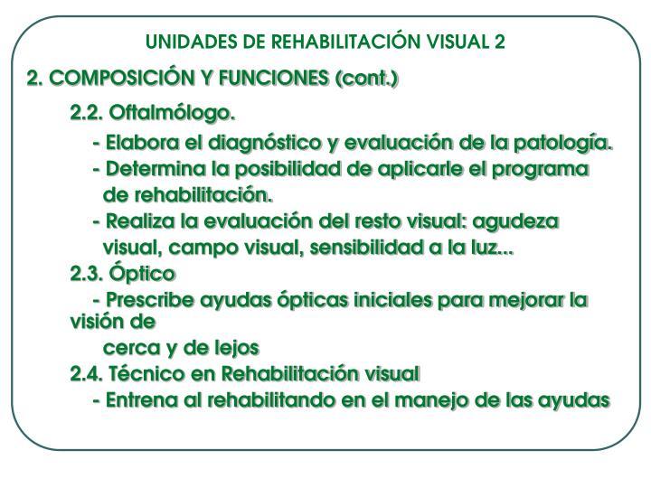 UNIDADES DE REHABILITACIÓN VISUAL 2