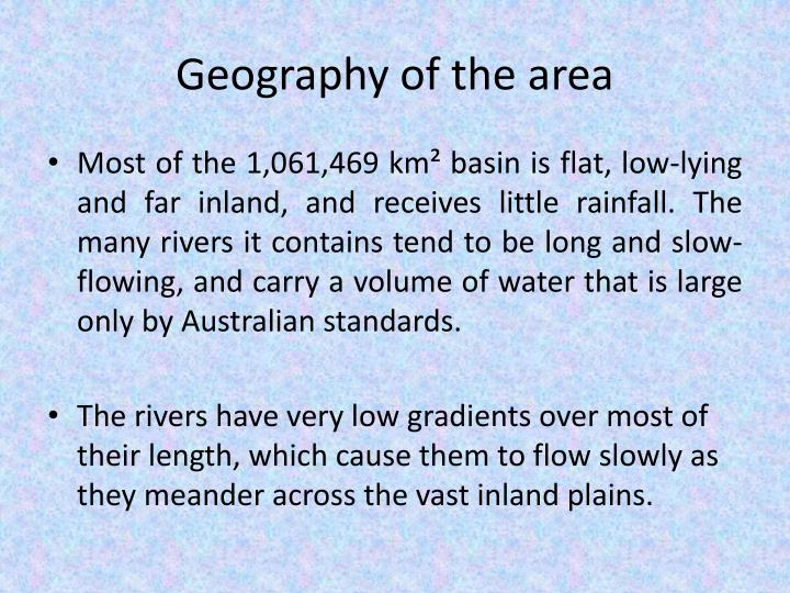 Geography of the area