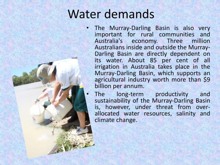 Water demands