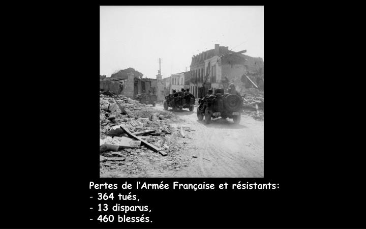 Pertes de l'Armée Française et résistants: