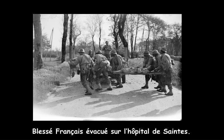 Blessé Français évacué sur l'hôpital de Saintes.