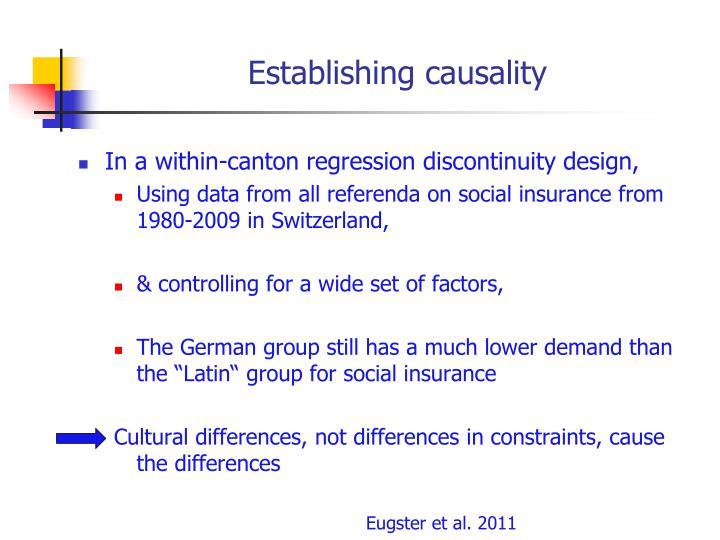 Establishing causality