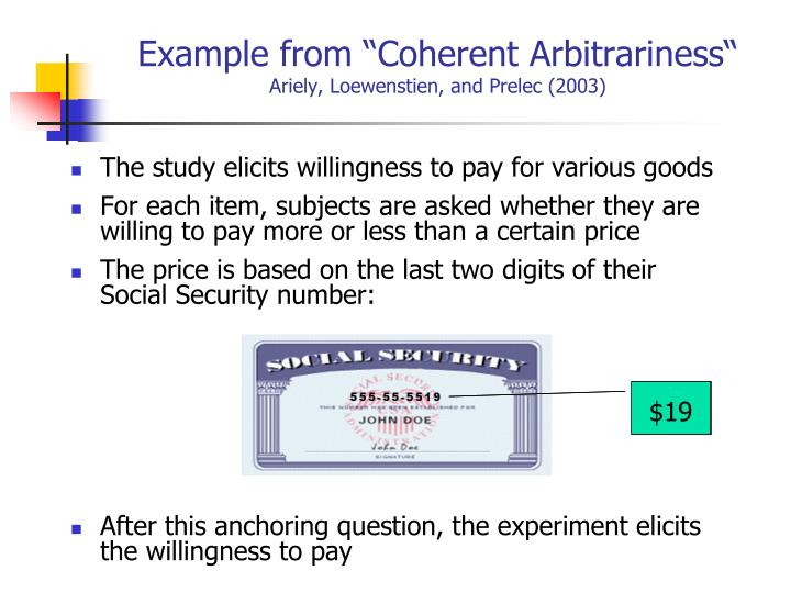 "Example from ""Coherent Arbitrariness"""