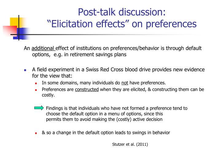 Post-talk discussion: