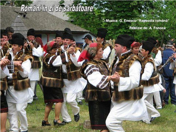 Români în zi de sărbătoare