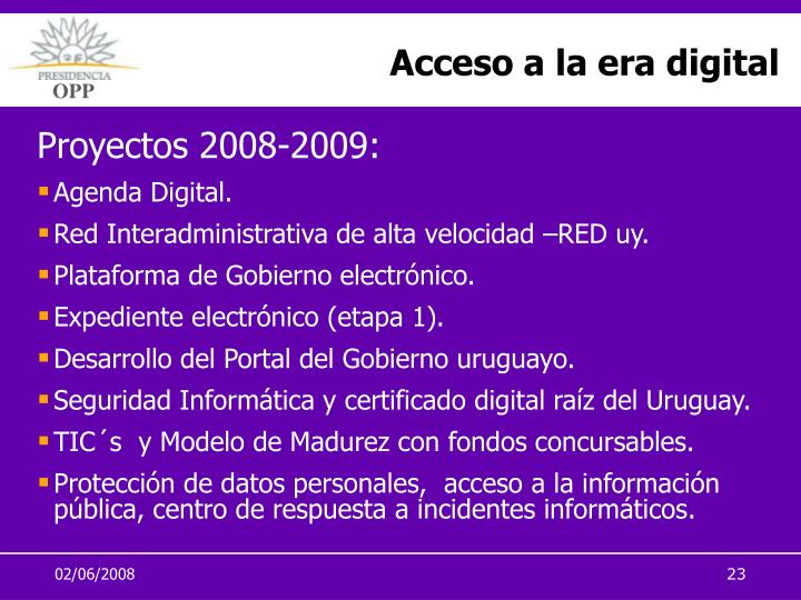Acceso a la era digital