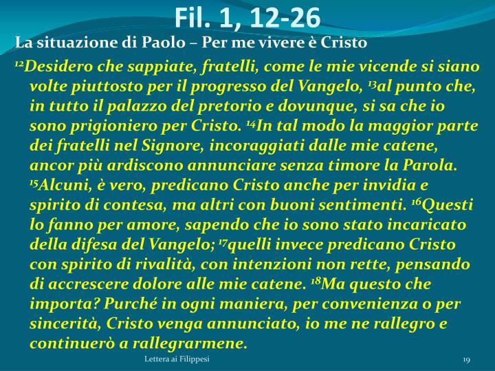 Fil. 1, 12-26