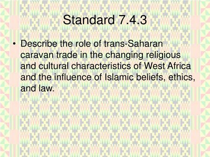 Standard 7.4.3