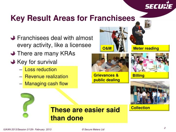 Key Result Areas for Franchisees