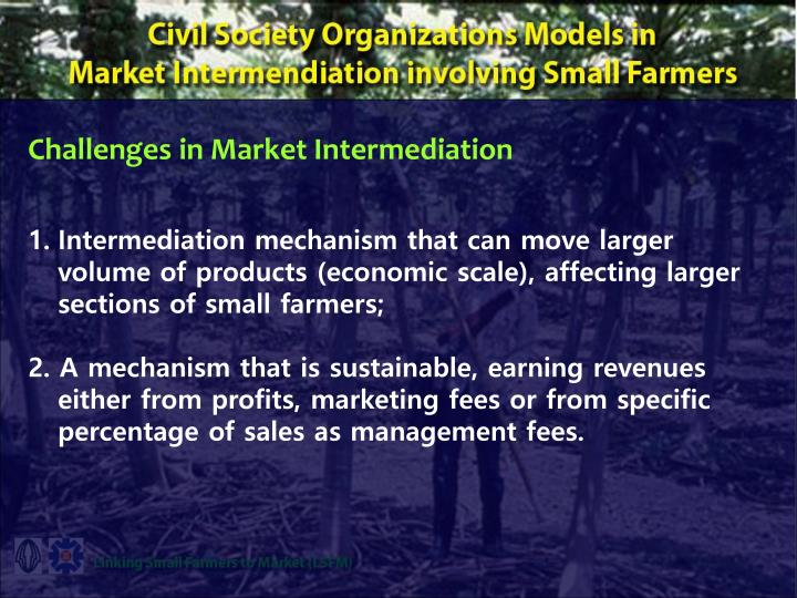 Challenges in Market Intermediation