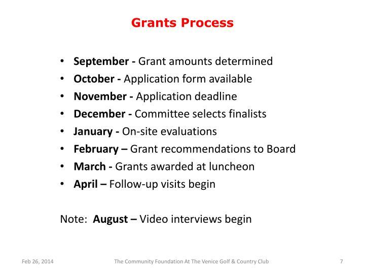 Grants Process
