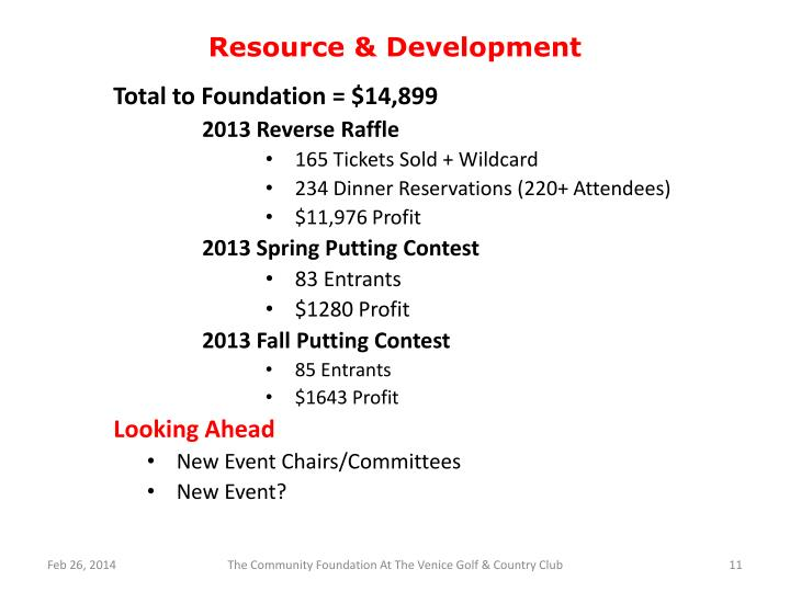 Resource & Development