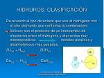 hidruros clasificaci n