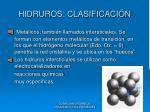 hidruros clasificaci n2