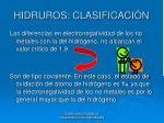 hidruros clasificaci n3