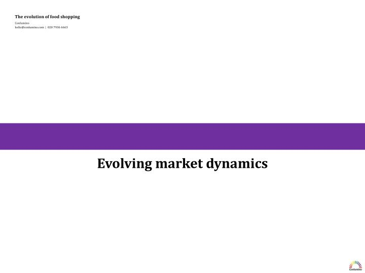 Evolving market dynamics
