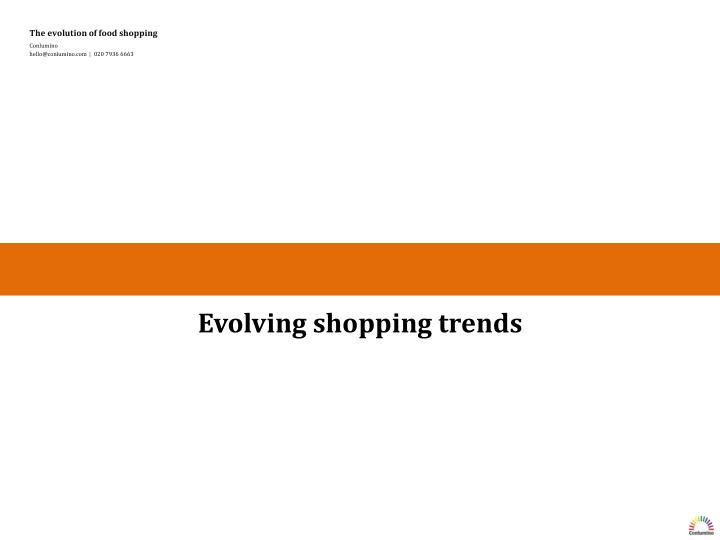 Evolving shopping trends