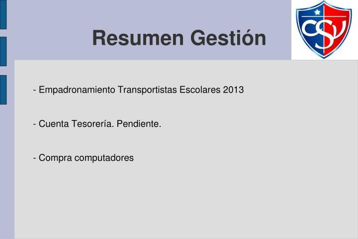 - Empadronamiento Transportistas Escolares 2013