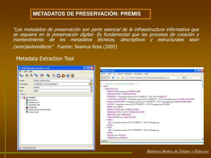 METADATOS DE PRESERVACIÓN: PREMIS
