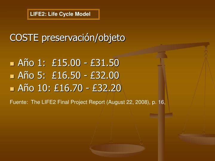 LIFE2: Life Cycle Model
