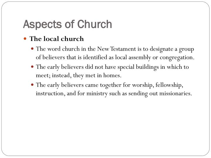 Aspects of Church