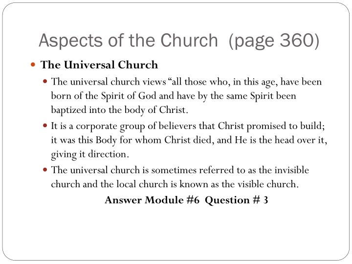 Aspects of the Church  (page 360)