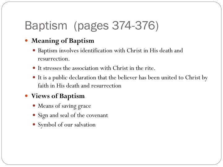 Baptism  (pages 374-376)