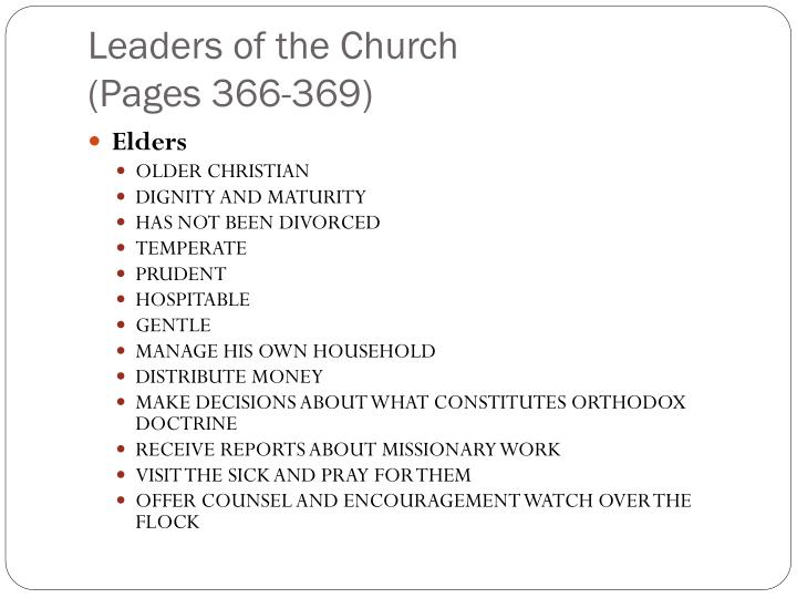 Leaders of the Church