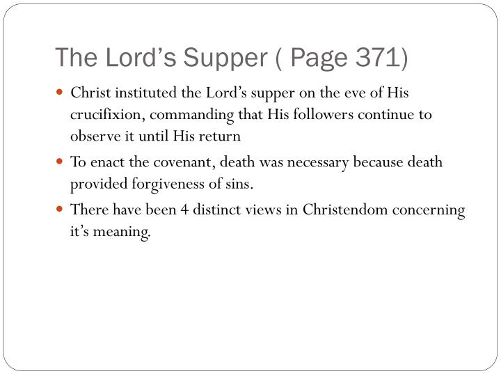 The Lord's Supper ( Page 371)