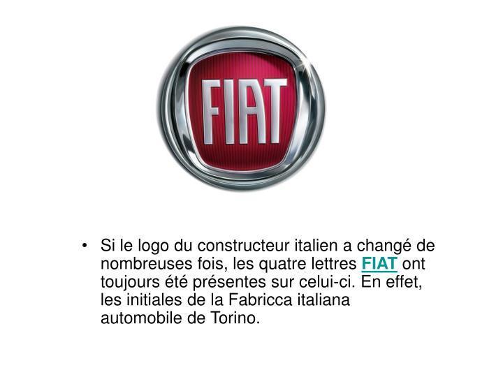 Si le logo du constructeur italien a chang de nombreuses fois, les quatre lettres