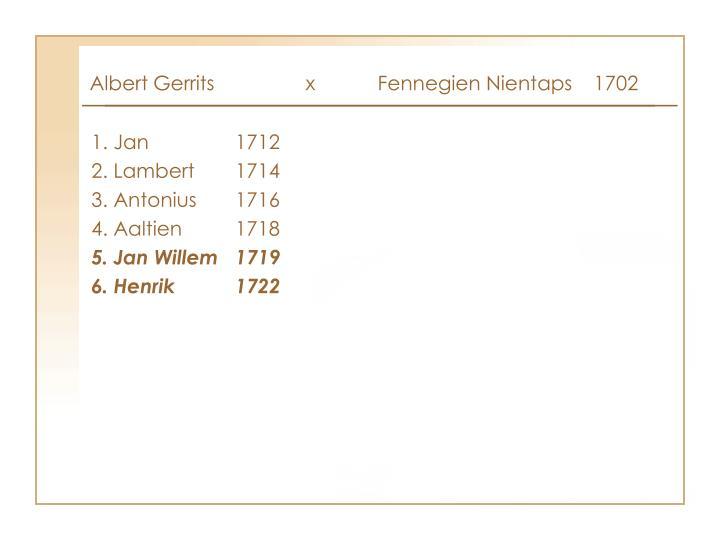 Albert Gerrits x Fennegien Nientaps1702