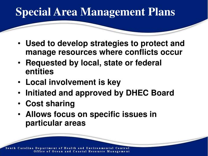 Special area management plans