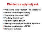 p ehled za uplynul rok
