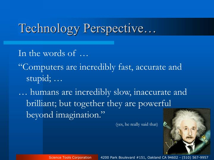 Technology Perspective…