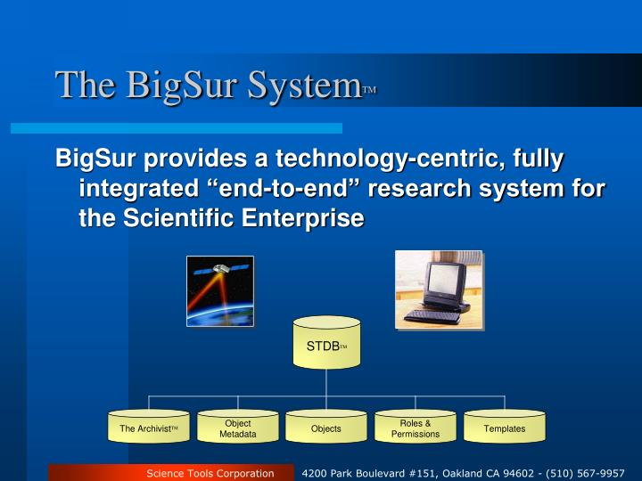 The BigSur System
