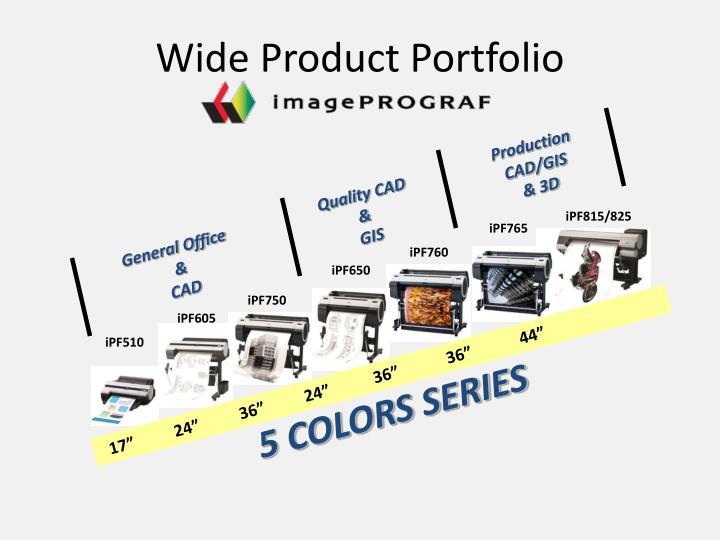 Wide Product Portfolio