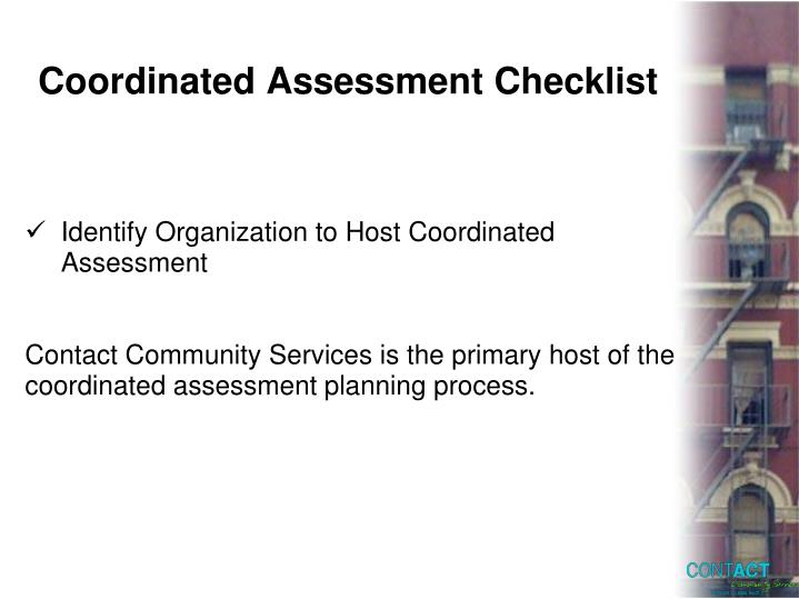 Coordinated Assessment Checklist