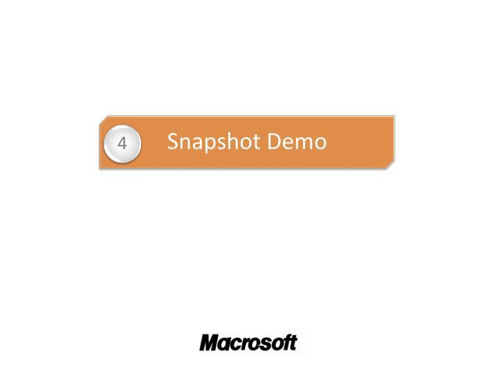 Snapshot Demo