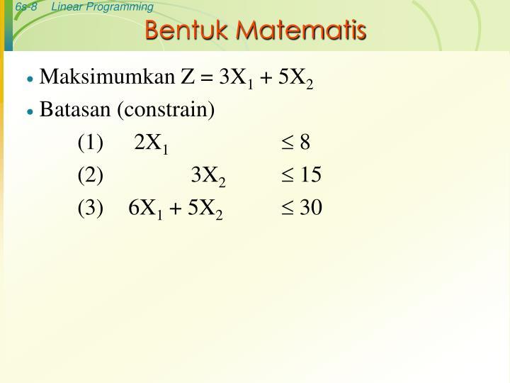 Bentuk Matematis