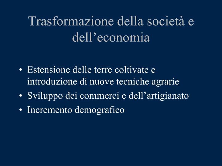 Trasformazione della società e dell'economia
